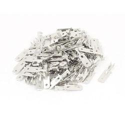 100 sztuk metalowy 6.3mm męski Spade Terminal do nylonu Mult przyłącze stykowe w Zaciski od Majsterkowanie na