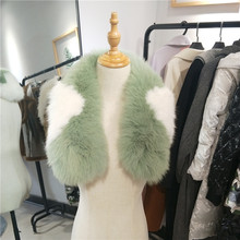 Real Fox Fur Collar for Women Fashion Winter Genuine Scarves Warm Scarf Wholesale And Retail