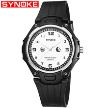SYNOKE Simple City Sportsman Waterproof Watch Teenager Thin Quartz Watch Fashion Casual MEN'S Table 9618