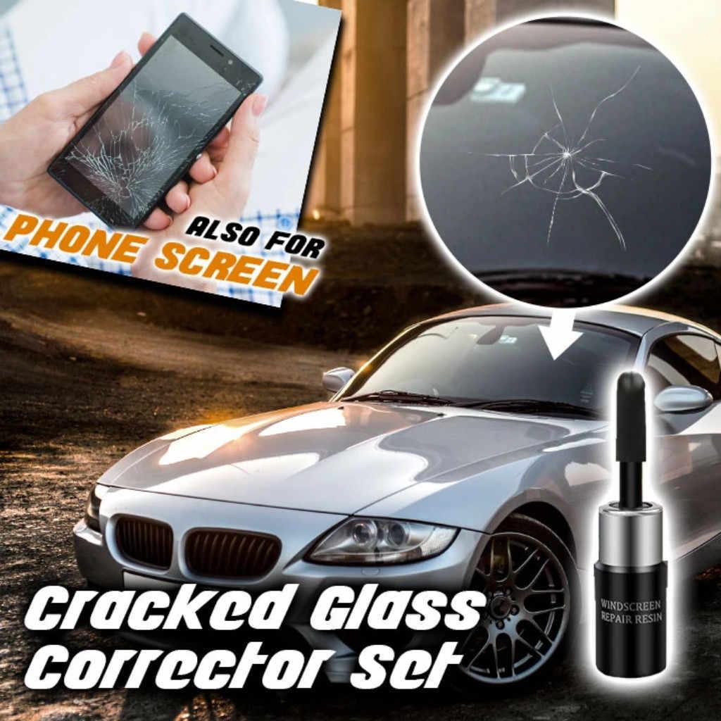 רכב זכוכית ננו תיקון נוזל תיקון שונים סוגים של נזק שנגרם רכב חלון זכוכית סדק שבב תיקון כלי ערכת # p25
