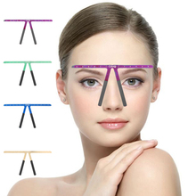 EyeBrow Tattoo Permanent Makeup Rule Microblading Eyebrow Tattoo Stencil Rule Reusable Template Definition Grooming Measure Tool