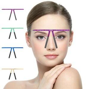 Image 1 - 眉毛タトゥーアートメイクルール Microblading 眉毛ステンシルルール再利用可能なテンプレート精細グルーミング測定ツール