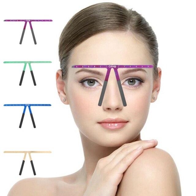 眉毛タトゥーアートメイクルール Microblading 眉毛ステンシルルール再利用可能なテンプレート精細グルーミング測定ツール
