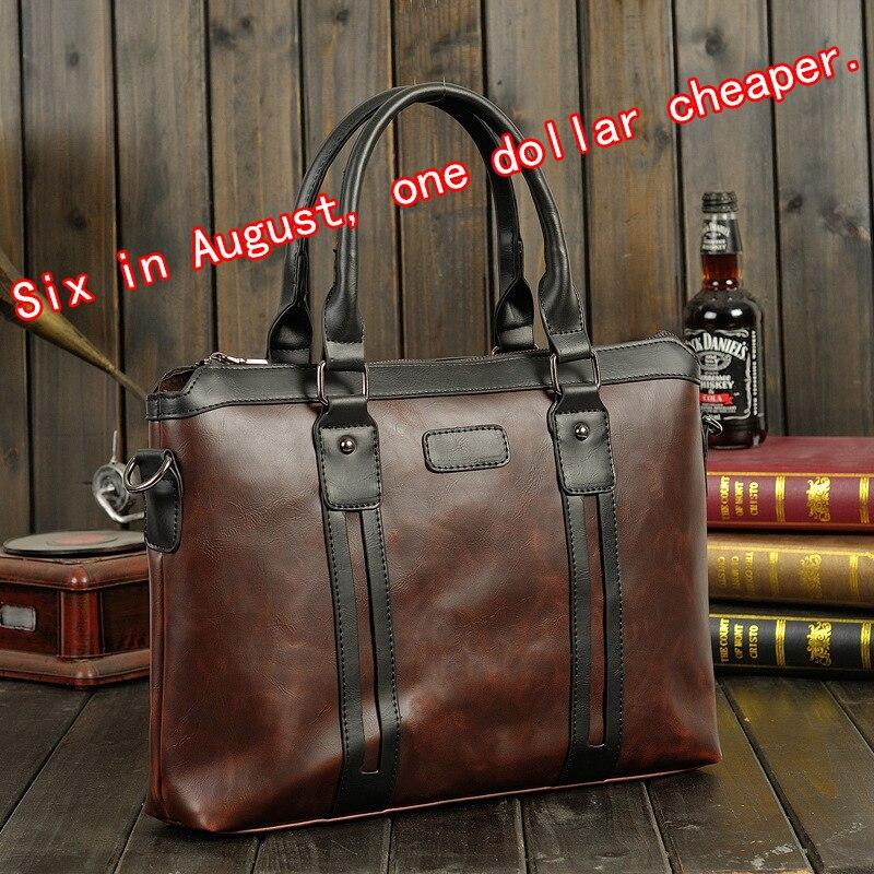 Business Briefcase Folder Handbag Messenger-Bag Portfolio Men's Casual PU