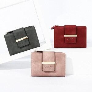 Image 4 - 2020 ใหม่สตรีสั้นกระเป๋าสตางค์สุภาพสตรีกระเป๋าเงินขนาดเล็ก Bifold กระเป๋าสตางค์ซิปกระเป๋าสำหรับหญิงสีเหลือง