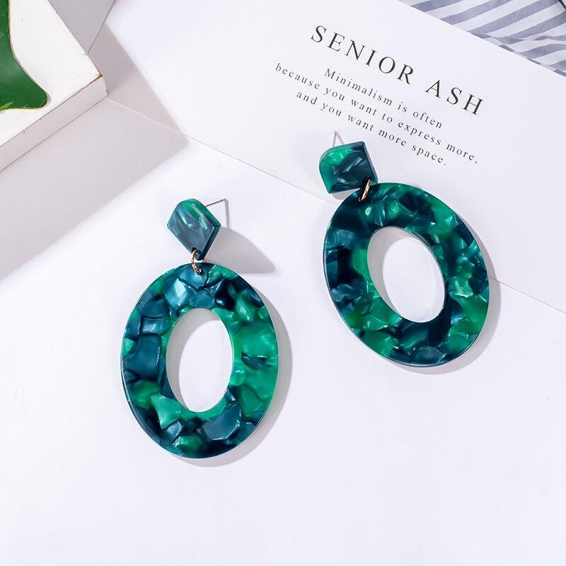 BFH Korean Acrylic Earrings For Women Bohemian Earrings Set Vintage Big Dangle Drop Earings 2020 Brincos Female Fashion Jewelry