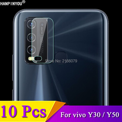 На Алиэкспресс купить стекло для смартфона 10 pcs/lot for vivo y30 / y50 anti-scratch clear rear camera lens protective protector cover soft tempered glass film guard