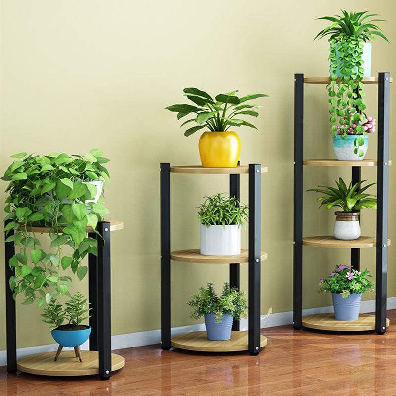 Flower Rack Multi-storey Interior Decoration Space Balcony Flower Stand Wrought Iron Multi-layer Indoor Flower Pot Rack