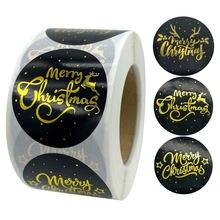 500 шт/рулон наклейки на Рождество