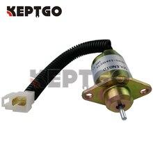 For Kubota 05 Series D905 D1005 V1205 V1305 V1505 17594 6001 4 17454 60010 1503ES 12A5UC5S SA 4569 T 12V Fuel Shut Off Solenoid