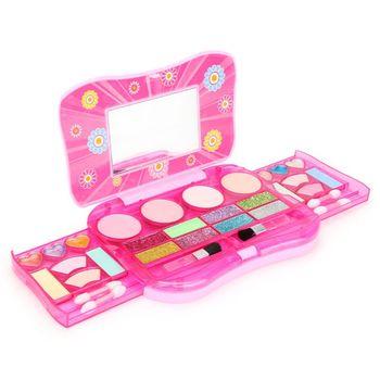 Juego de cosméticos de moda, paleta de maquillaje plegable, Kit de juguete de espejo para niñas pequeñas 23GD