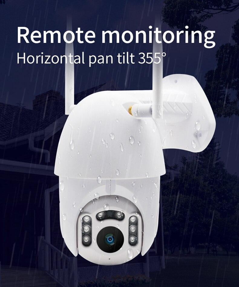 IP66 Открытый PTZ беспроводной IP камера обнаружения движения 355 градусов HD скрытый водонепроницаемый наблюдения скорость купольная камера
