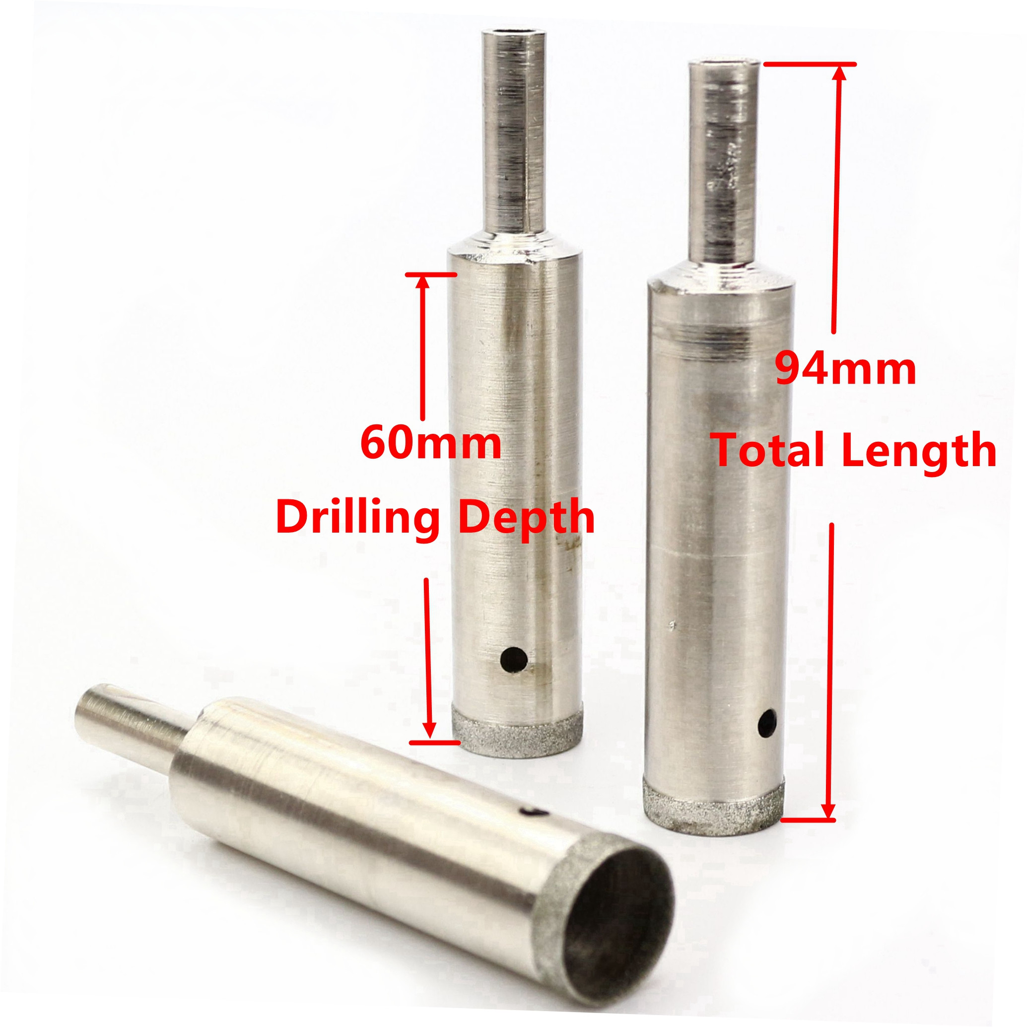 6-35mm Super-Thin Lapidary Diamond Hole Saw Extended Drill Bit Drilling Depth 60mm Tools For Stone Gemstone Glass