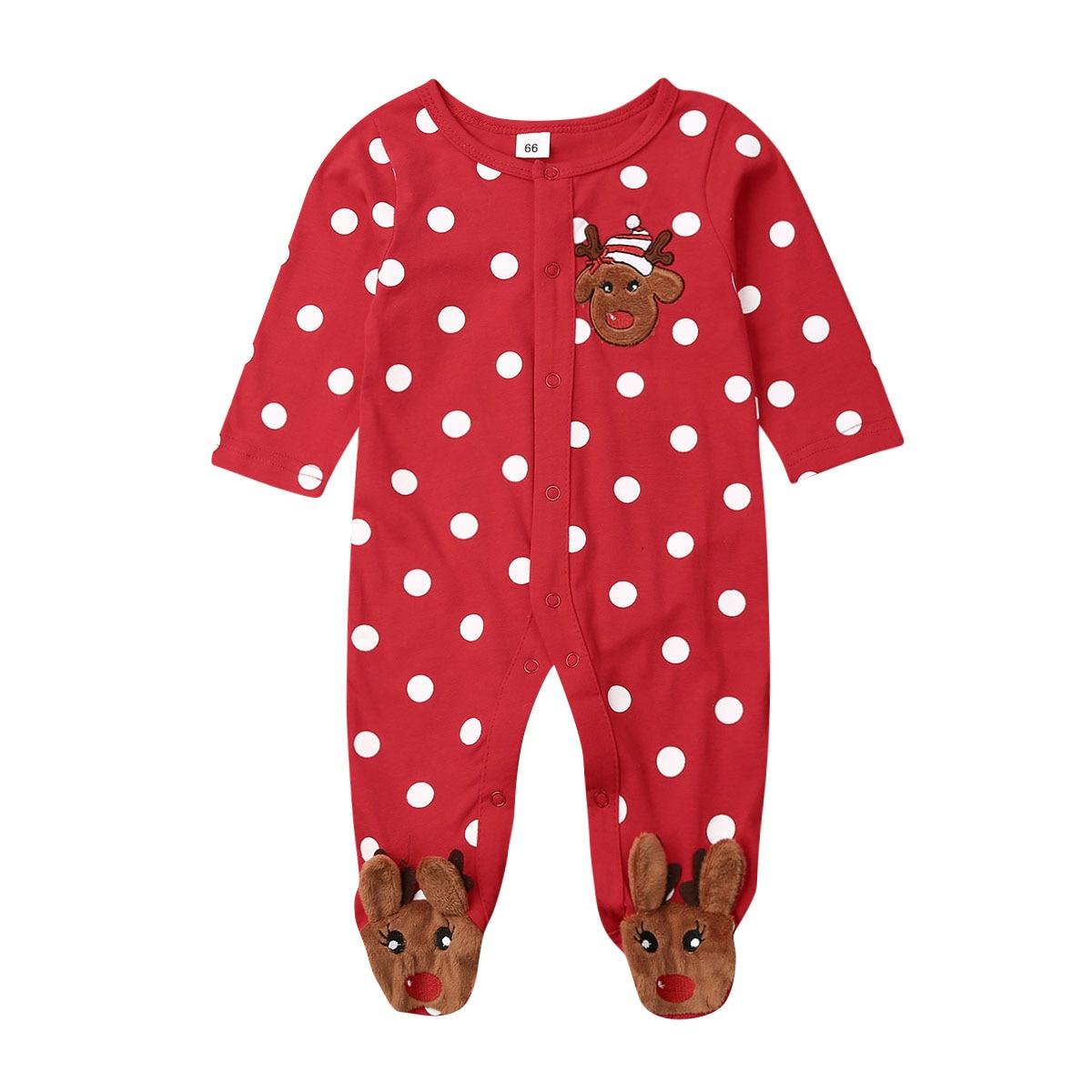 Weihnachten Baby Junge Mädchen Kleidung Romper Kleidung Kinder Weihnachten Kostüm 0-18 Monate
