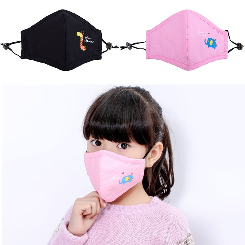 Cute Kids PM2.5 Anti-Dust Mask With Filter Cotton Mouth Cartoon Masks Respirator