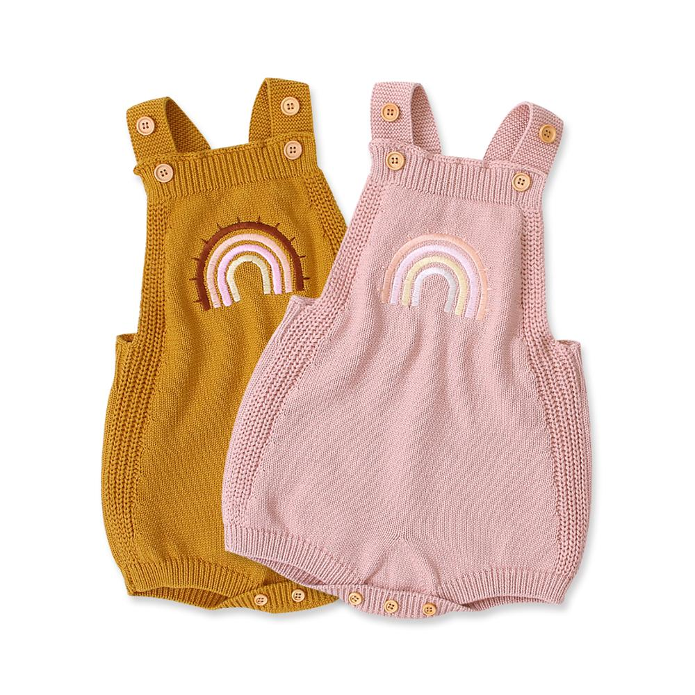 Autumn Sleeveless Bodysuits For Newborns Baby Girl Onesie Tops Cotton Knitted Babies Boy Coveralls Infant Kids Jumpsuits Clothes