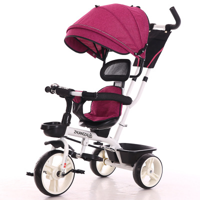 Three Wheels Tricycle Bicycle Stroller Baby Carriage with 3 Wheels Free Shopping Cart Trike Kids Stroller Pushchair Buggy|carriage baby|carriage baby strollers|carriage stroller - title=