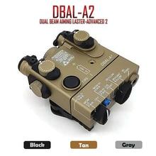 PEQ 15A DBAL A2 듀얼 빔 조준 레이저 ir & 레드 레이저 led 화이트 라이트 조명기 원격 배터리 박스 스위치