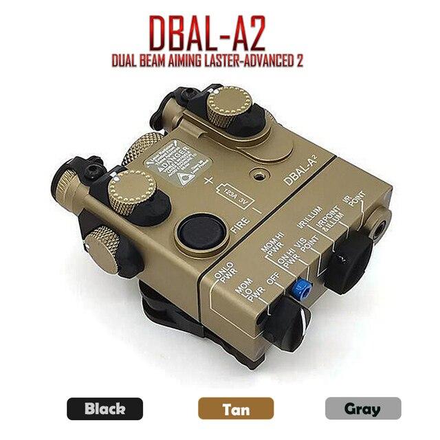 PEQ 15A DBAL A2 láser de doble haz, iluminador de luz LED blanca roja y IR, con interruptor de caja de batería remota