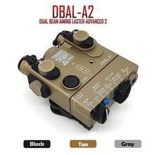 PEQ 15A DBAL A2 شعاع مزدوج تهدف ليزر الأشعة تحت الحمراء والأحمر ليزر LED إضاءة بيضاء مع صندوق بطارية عن بعد التبديل
