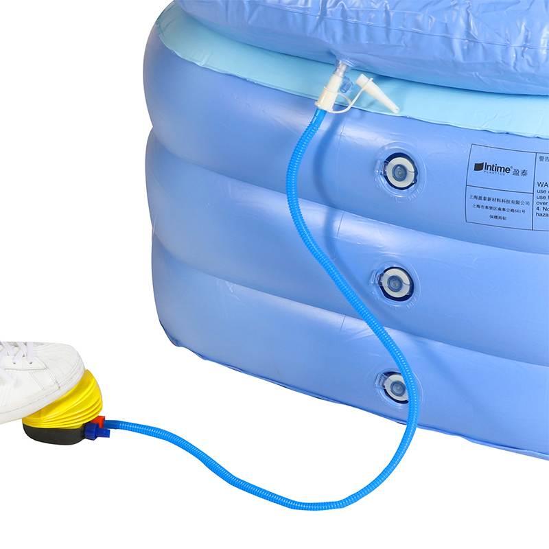 Portátil dobrável engrossado inflável banheira casa acampamento viagem banho piscina ao ar livre piscina família spa para adulto ou criança-5