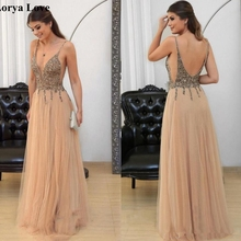 Tulle Maxi Sequins Prom Dresses 2020 Women Formal Party Nigh