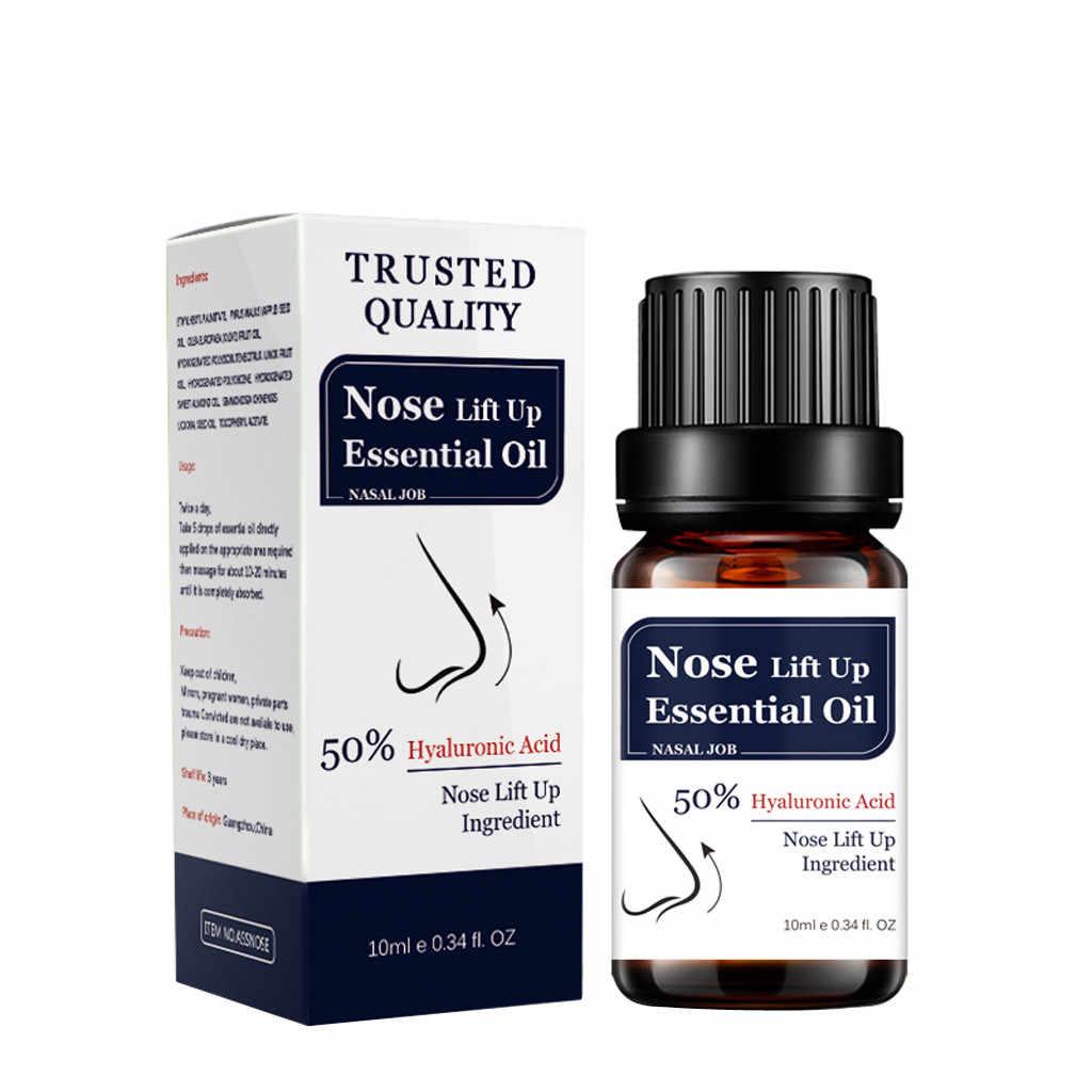 10ml nariz levante-se óleo essencial pura natureza planta ácido hialurônico extrato fino menor cuidado do nariz embelezar essência de massagem # zf