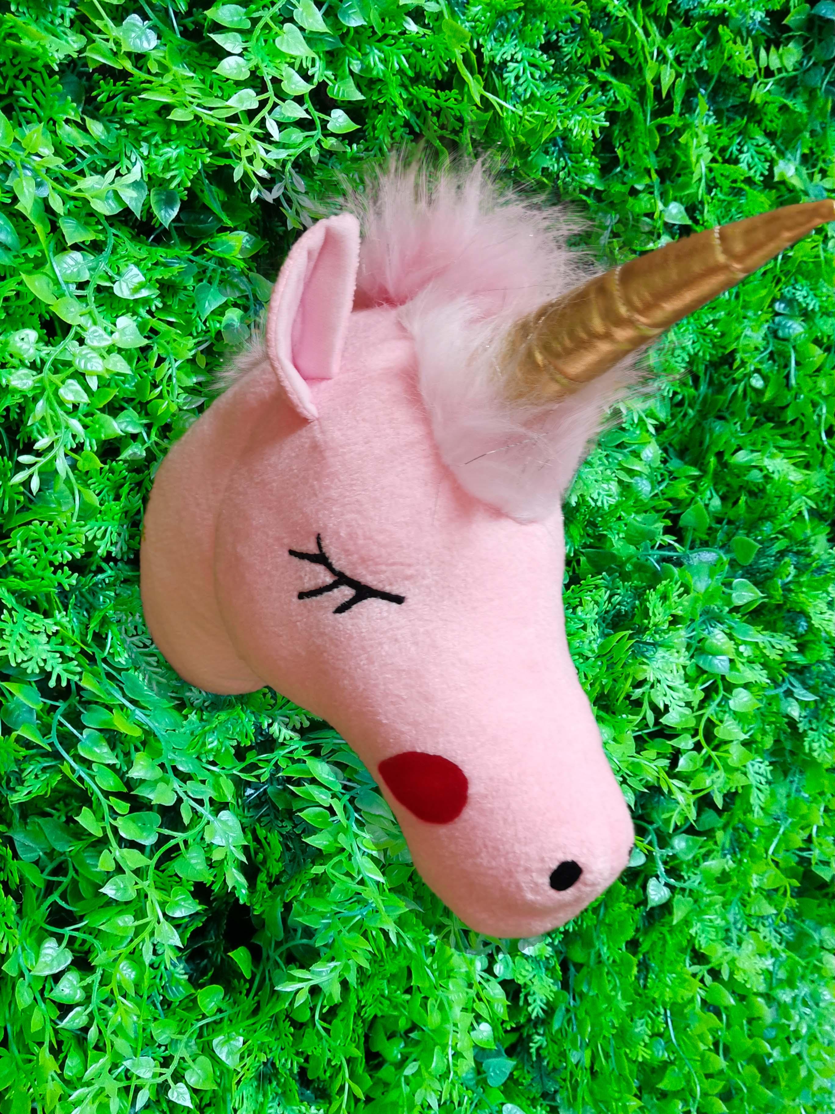 2021 venda quente promocao brinquedos de pelucia unicornio cabeca decoracao da parede para a menina do