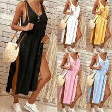 Goocheer Fashion Sexy Womens Blouse Sleeveless Tank Tops T-Shirt Casual Loose Long Maxi Dress
