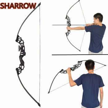 1pc 53 Archery Straight Bow Takedown Recurve Bow 30/40/50lbs Hunting Bow For Outdoor Shooting Hunting Training Accessories