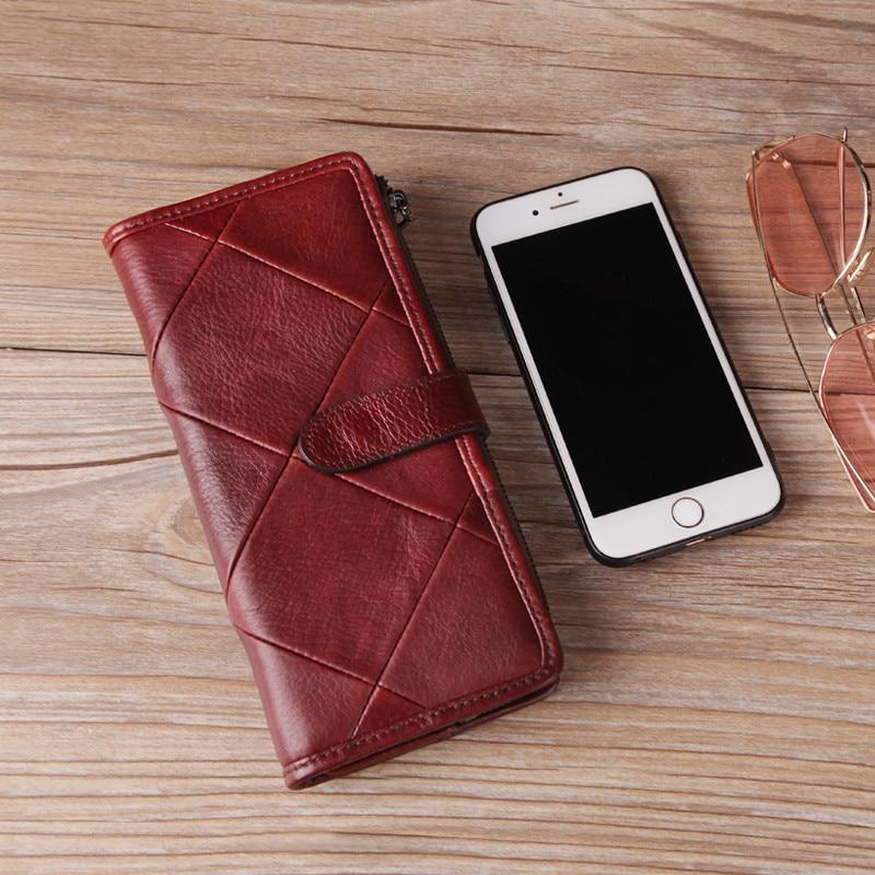 Купить с кэшбэком Cobbler Legend 2019 Genuine Leather Women Wallet Diamond Handmade Burse Female Coin Purse Hasp Clutch Lady Money Bag Card Holder