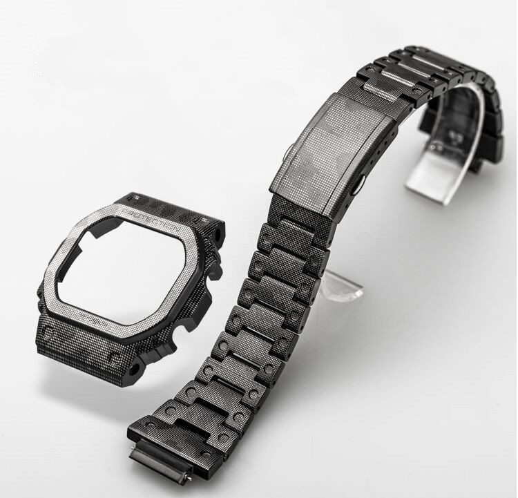 Titanium Alloy 5035 5600 5610 Custom Black Camouflage Watch Set Bezel Strap