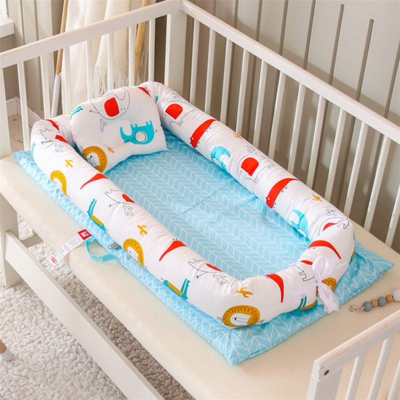 90X50cm Portable Baby Crib Infant Cradle Cot Newborn Travel Bed Folding Baby Nest Bed