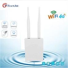 TIANJIE High Speed 4G LTE Wireless AP Wasserdichte Entsperren Sim Karte Wifi Router Hotspot CPE LAN/WAN RJ45 port Modem Dongle