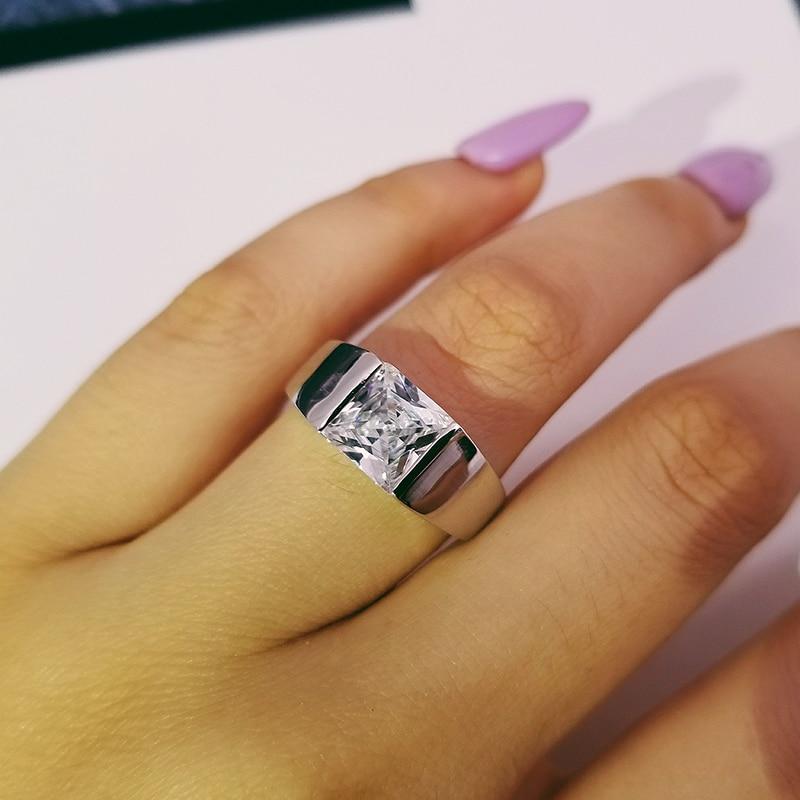 Moonso Hot Sale! SoLove 925 Sterling Silver Engagement Men Delicious Real Ring a Elegantní Men Ring LR2739S