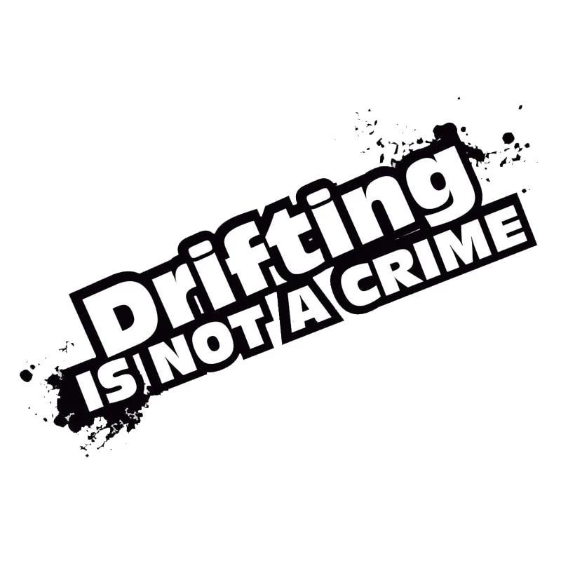 Drifting not a Crime Autocollant Drift STICKER TUNING TURBO des Autocollants Voiture