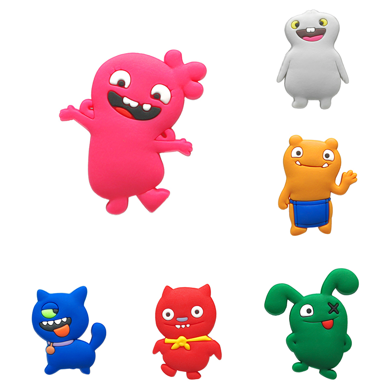 1pcs Lovely Cartoon Ugly Baby Shoe Charms Shoe Accessories For Kids Buckles Fit Bracelets Croc Charms JIBZ Shoe Decoration Gift