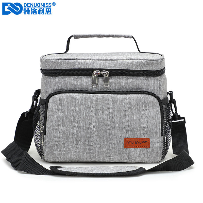 DENUONISS Portable Office Lunch Bag Waterproof Tote Cooler Handbag Insulated Thermal Bag For Food Bento Pouch Dinner Container