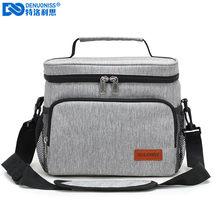 DENUONISS – sac à déjeuner Portable de bureau, fourre-tout étanche, sac à main isotherme, sac thermique pour aliments, pochette à Bento, conteneur de dîner