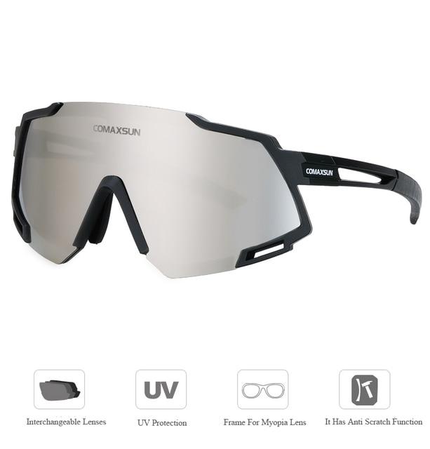 Comaxsun profissional polarizado 5 len ciclismo óculos mtb bicicleta de estrada do esporte espelho óculos de sol da bicicleta uv400 3