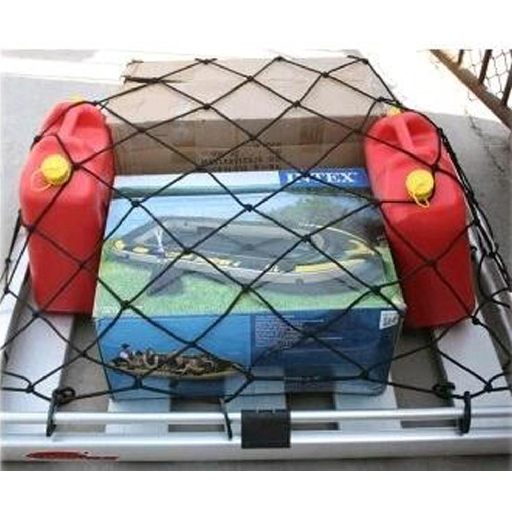 Yfashion Black Car Heavy Duty Universal Roof Debris Sundries Net Bag Stretchable Luggage Suitcase Net Car Storage Net