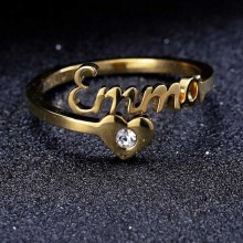 Name Ring With Heart Custom Name Ring Personalized Jewelry Customized Jewelry Personalized Name Ring Birthday Christmas Gift