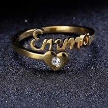 Name Ring Mit Herz Custom Name Ring Personalisierte Schmuck Angepasst Schmuck Personalisierte Name Ring Geburtstag Weihnachten Geschenk