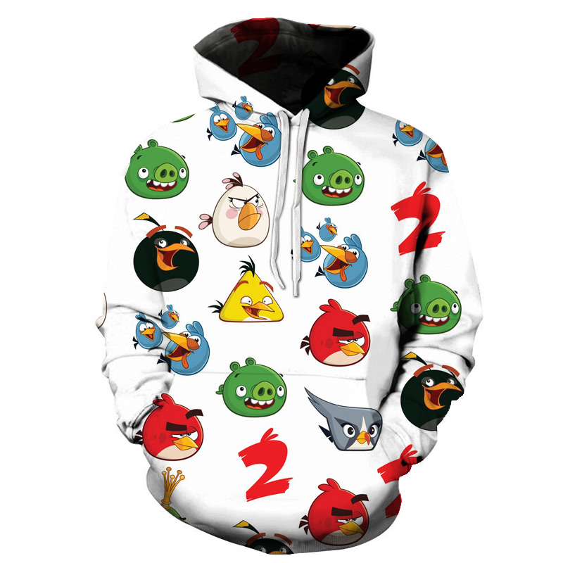 3D The Angry Birds Hooded