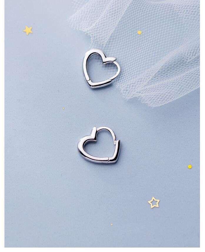 Piercing Heart Stud Earrings for Women Femme Wedding Party Femme pendientes Brincos eh495