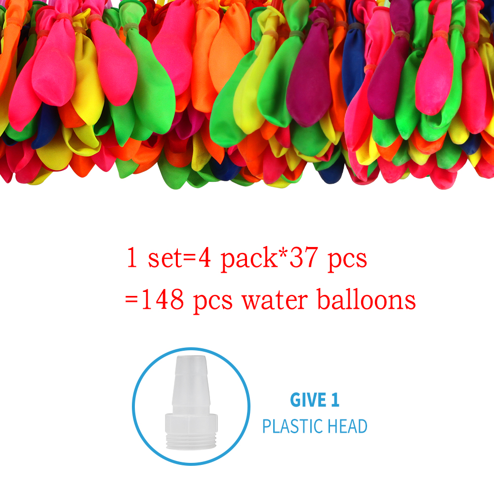 148 Pcs Water Balloons Funny Summer Outdoor Game Toy Water Balloon Bombs Summer Novelty Gag Toys For Children