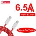 Oneplus 8T Original Warp Schnell Ladegerät kabel 6,5 EINE Dash Schnelle Typ-C Zu Typ-C daten kabel für Eine plus 8T Smart telefon