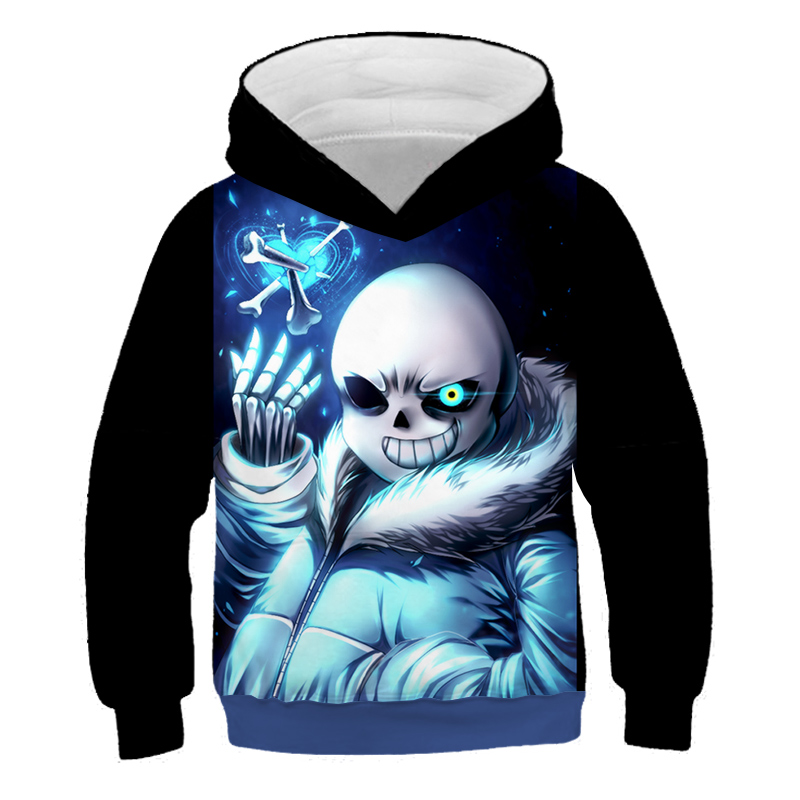 Game Undertale Skeleton Brother 3D Kids Sweatshirts Skull Boys/Girls Pullover Children hoodies unisex hooded Funny Baby Hoodie