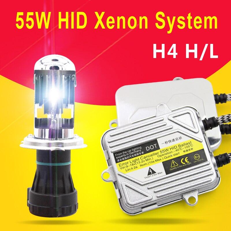HID XENON KIT SYSTEM H4 9003 H1 3000K 5000K 6000K 8000K
