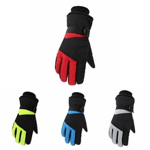 Skiing Gloves Full Finger Thick Water Resistant Thermal Fluffy Handwear Winter Outdoor Cycling Sportswear Accessories